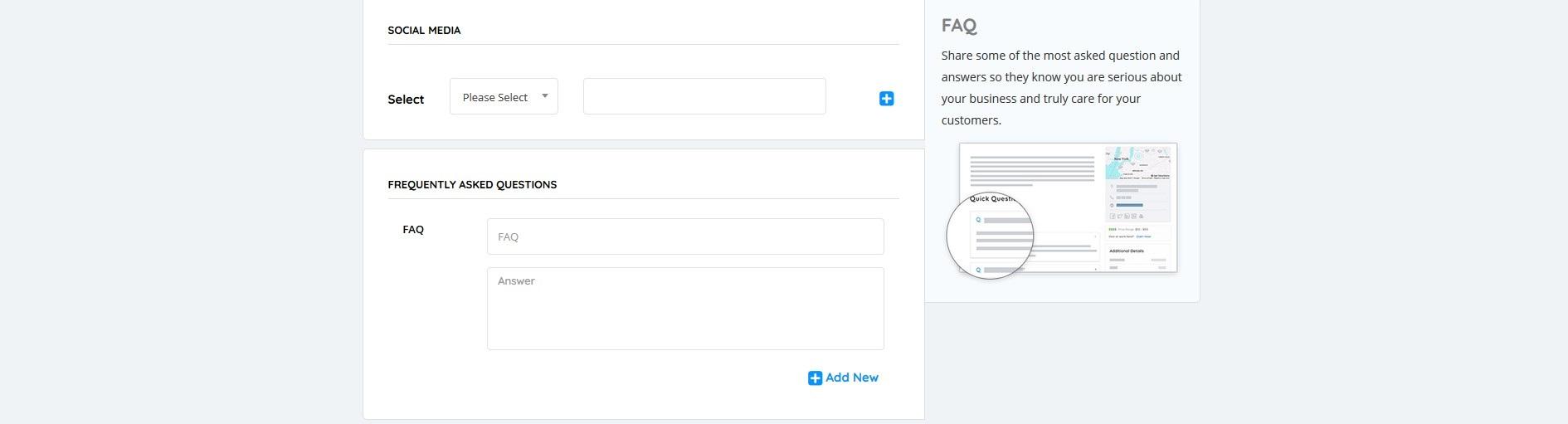 5 Social media and FAQs